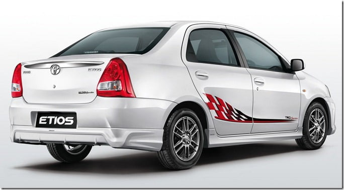 Toyota Etios TRD SPortivo Limited Edition rear