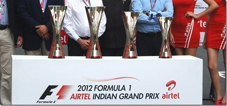 2012 Airtel Indian Grand Prix Formula One Trophy Unveiled