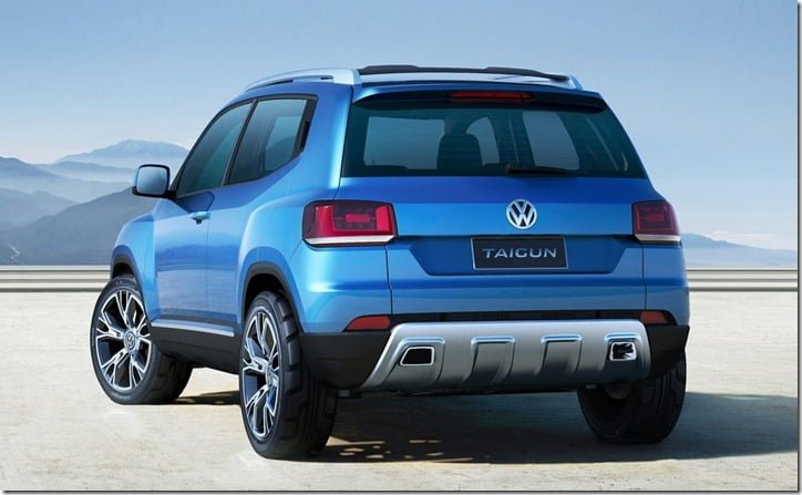 Volkswagen Taigun Concept SUV rear