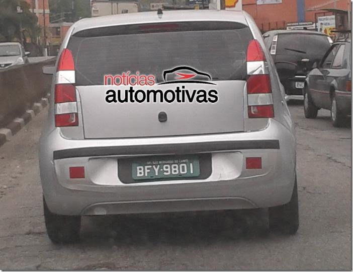 Volkswagenn Up Small Car In Brazil rear