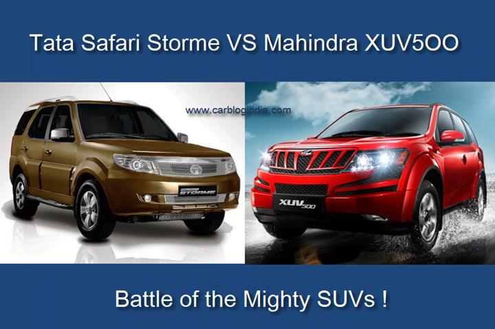 tata safari storme vs mahindra XUV5OO