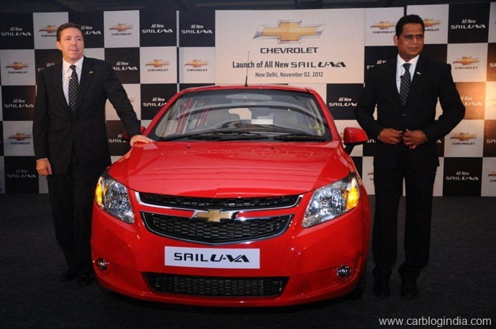 Chevrolet Sail U-VA Launched Delhi