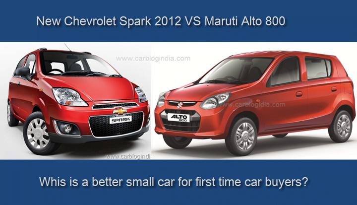 Chevrolet Spark Vs Maruti Alto 800