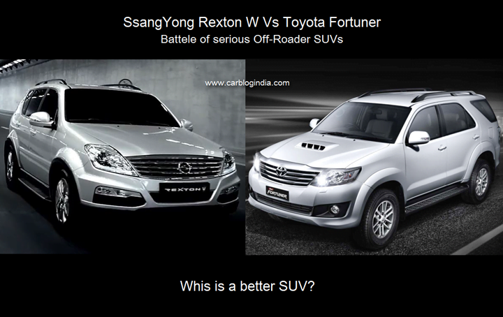 Mahindra Ssangyong Rexton Vs Toyota Fortuner Detailed