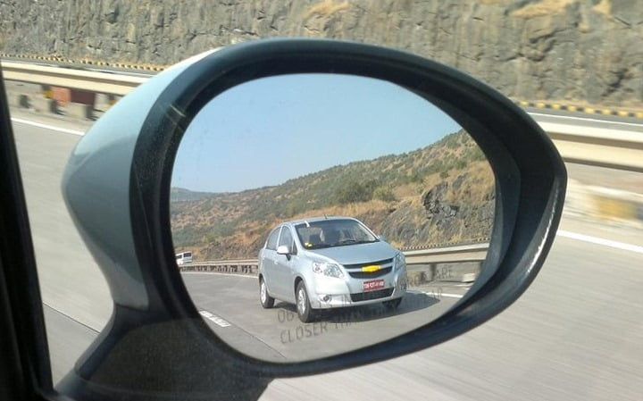 Production Ready Chevrolet Sail Sedan Caught Testing