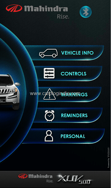Mahindra XUV500 BlueSense Android Application