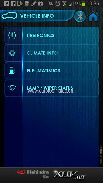 Mahindra XUV500 BlueSense Android Application