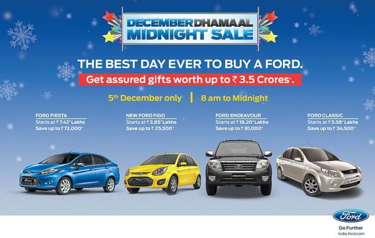 Ford India Midnight Sale December 2012