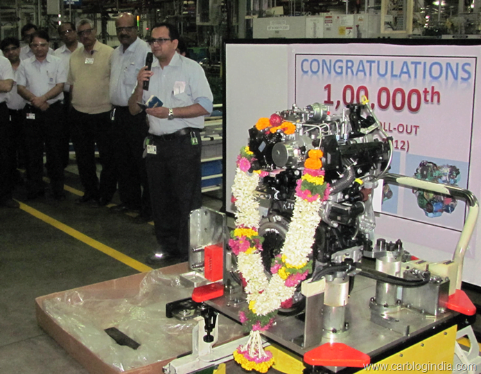 GM India Talegaon Facility Rolls Out 100,000th engine