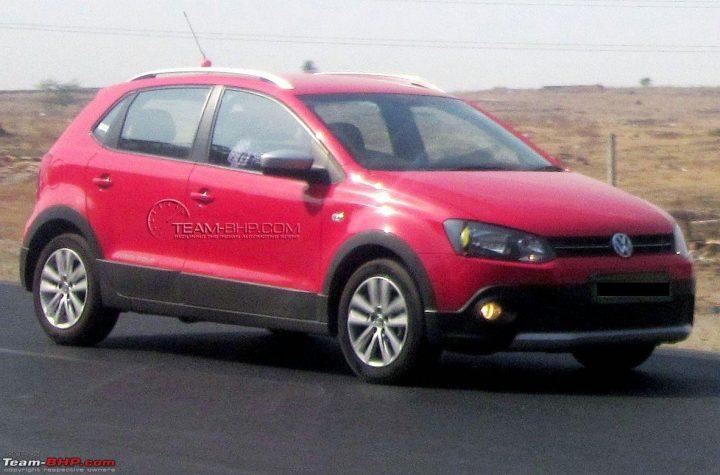 Volkswagen CrossPolo Spyshot Front Quarter