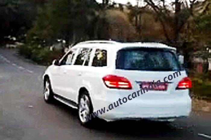 2013 Mercedes GL Class Spied Testing In India (1)