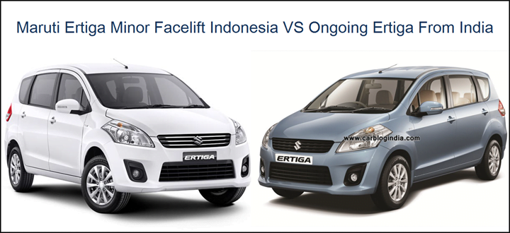 Maruti Ertiga New Model VS Old Model