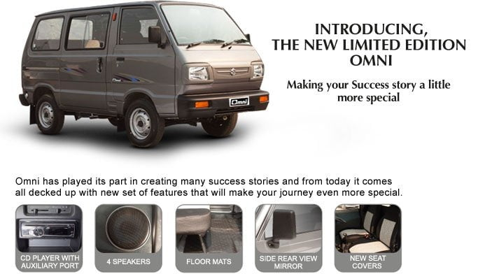 Maruti Omni Limited Edition Launched– Features and Price