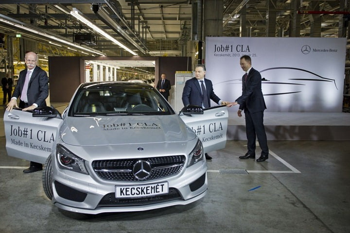 Mercedes CLA Production Starts