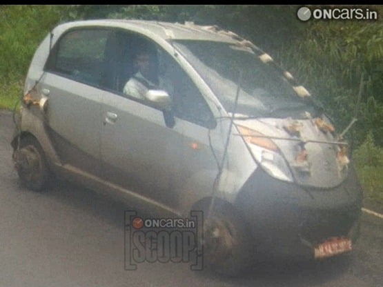Tata Nano 800 Testing Started- Spy Pictures and Details
