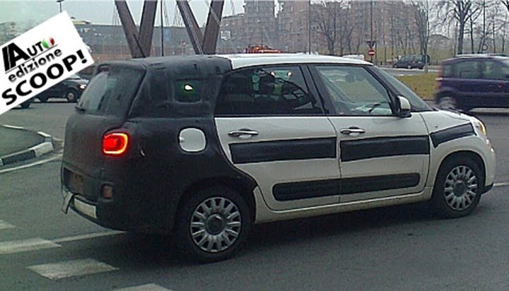 Fiat 500 XL Road Test Spy Picture