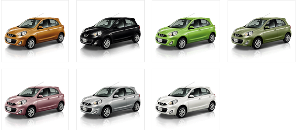 2014 Nissan Micra Colour Options
