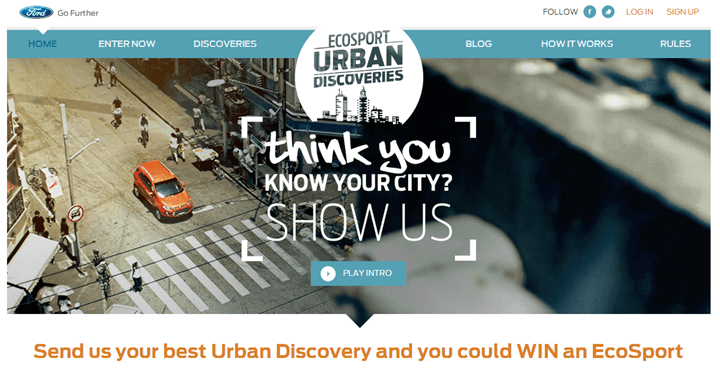 Ford EcoSport Urban Discovery Contest