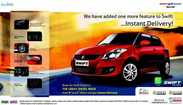 Maruti Swift Diesel Instant Delivery