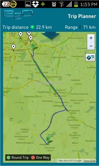Smart Phone App Trip Planner 2