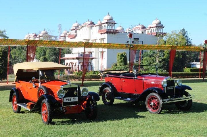 Vintage Cars on display at Jai Mahal, Jaipur at 15th Vintage and Classic Car Rally