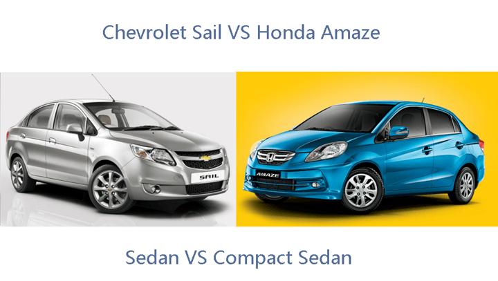 Honda Amaze VS Chevrolet Sail
