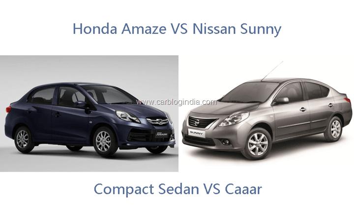 Honda Amaze VS Nissan Sunny
