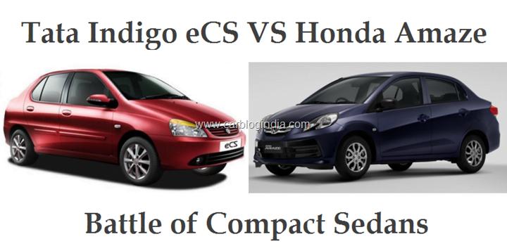 Honda Amaze VS Tata Indigo eCS