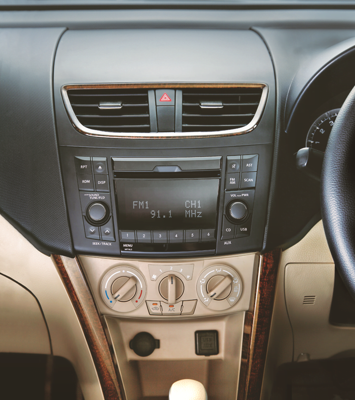 Integrated advanced audio system with tweeters and auto volume control