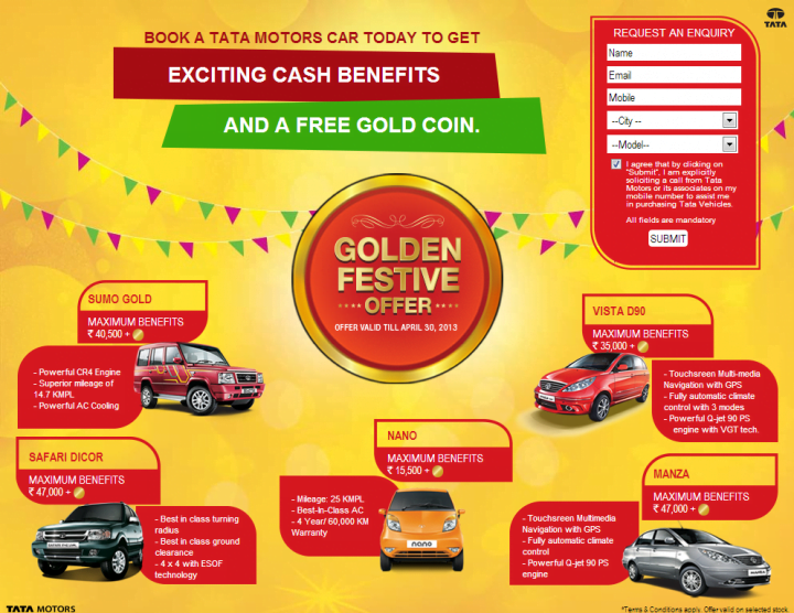 Tata Motors Gold Offer