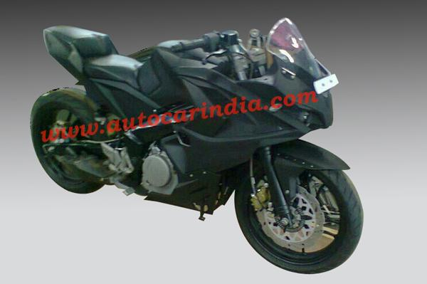 Spy Shot Pulsar 375 Right Side Front