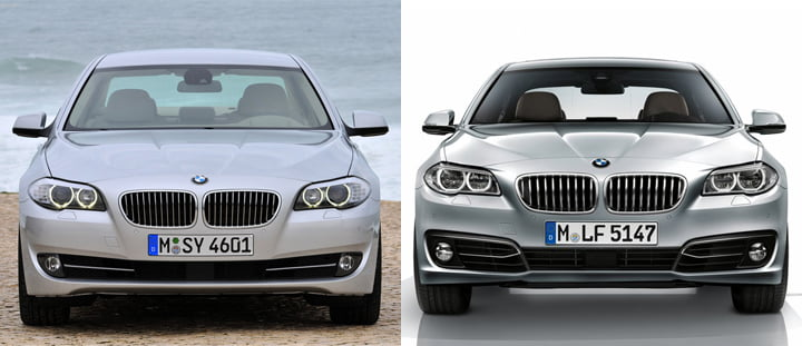 BMW 5 Series Comparison, Front Fascia