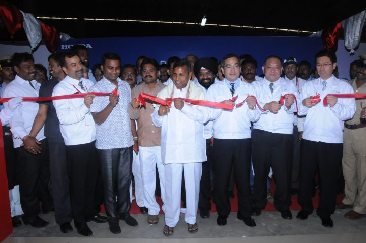 Inauguration of the new HMSI factory at Narsapura