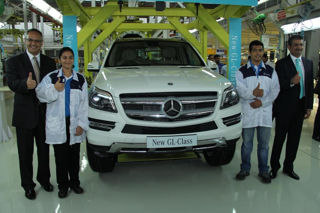 Update mercedes benz starts assembling the gl class in india for Mercedes benz ml class 350 cdi price in india