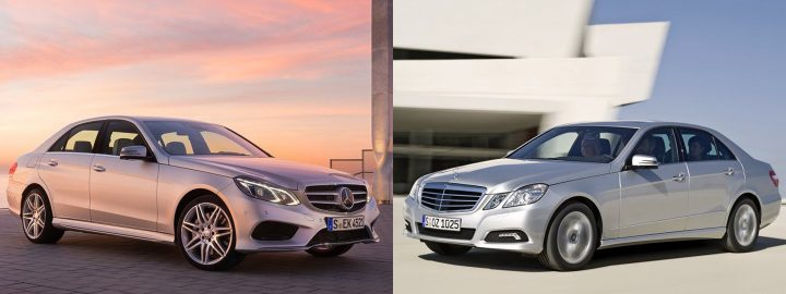 Comparison: Left: Mercedes-Benz W213, Right: Mercedes-Benz W212