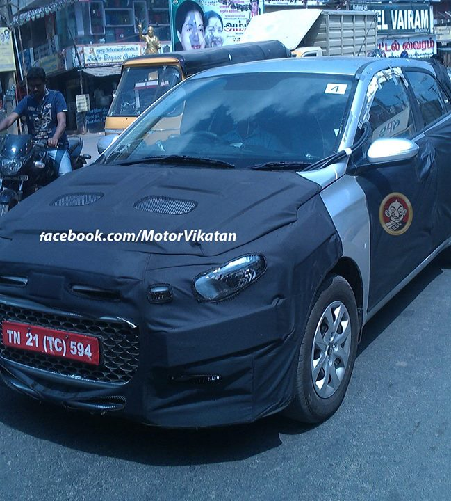 2015 Hyundai i20 Spy Shot Front Left Quarter