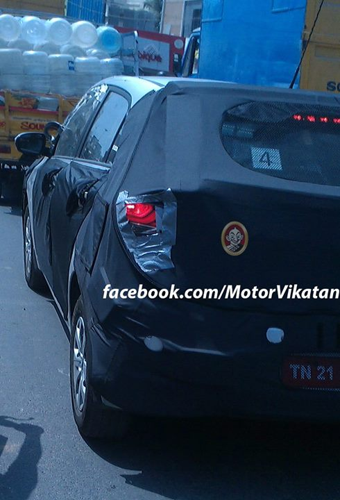 2015 Hyundai i20 Spy Shot Rear Left Quarter