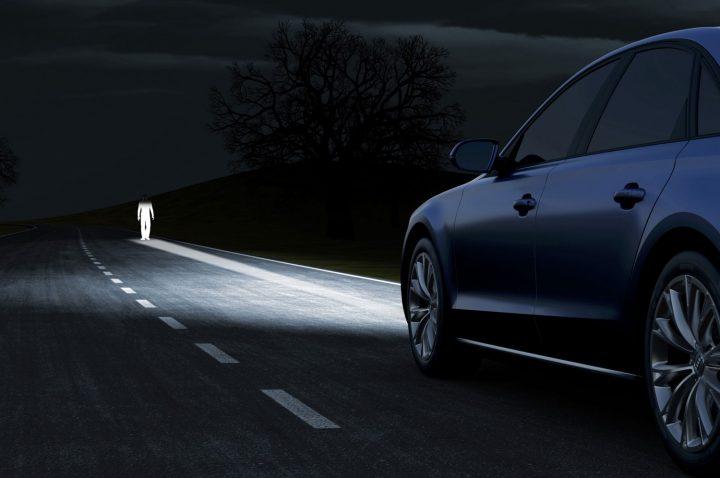 Audi A8 Matrix LED Headlights Pedestrian