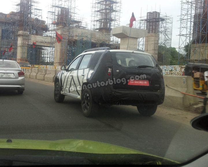 Nissan Terrano Rear Three Quarter Spy Shot