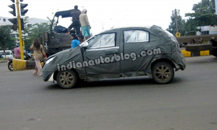 2014 Tata Vista Facelift Spy Shot Left Side Profile