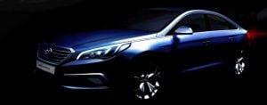 2015 Hyundai Sonata Teaser Image Front Left Quarter