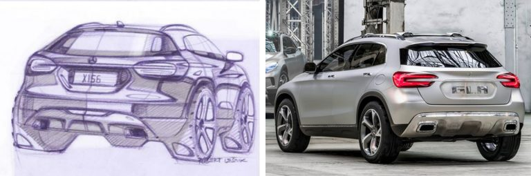 2014 Mercedes-Benz GLA Sketches Released