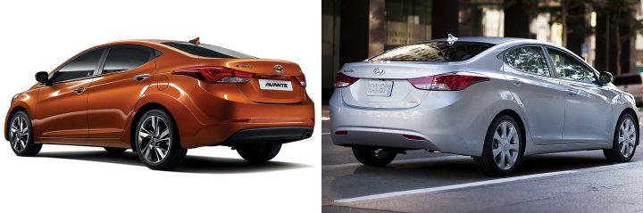 2014 Hyundai Elantra vs. 2012 Hyundai Elantra