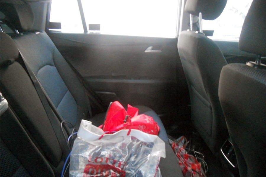 hyundai compact suv interior rear cabin spy shot carblogindia. Black Bedroom Furniture Sets. Home Design Ideas