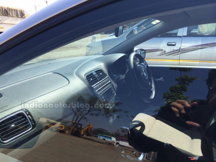 2014 VW Polo facelift Spy Shot Interior