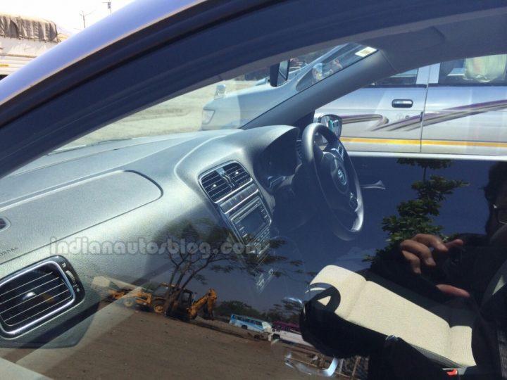 2014 VW Polo facelift Spy Shot Interior