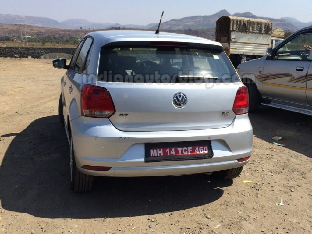 2014 Vw Polo Facelift Spy Shot Rear Carblogindia