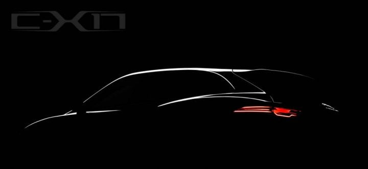 Jaguar C-X17 Crossover Concept Teaser Left Rear Quarter