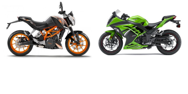 Silent Recall: KTM 390 Duke and Kawasaki Ninja 300