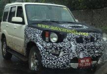 Mahindra Scorpio Facelift Spy Shot